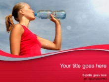Download woman drinking water PowerPoint Template and other software plugins for Microsoft PowerPoint
