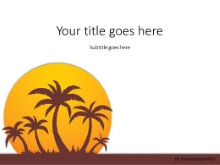Summer Sunset PPT PowerPoint Template Background