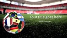 World Cup Ball Widescreen PPT PowerPoint Template Background