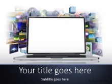 Internet Media PPT PowerPoint Template Background