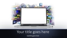 Internet Media Widescreen PPT PowerPoint Template Background