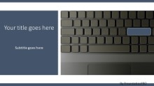 Laptop Keyboard Widescreen PPT PowerPoint Template Background