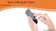 Mobile Phone Use Widescreen PPT PowerPoint Template Background