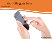 Mobile Phone Use PPT PowerPoint Template Background