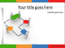 Network Team PPT PowerPoint Template Background