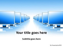 Screen Perspective PPT PowerPoint Template Background