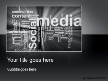 Download social media gray PowerPoint Template and other software plugins for Microsoft PowerPoint
