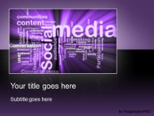 Download social media purple PowerPoint Template and other software plugins for Microsoft PowerPoint
