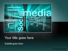 Download social media teal PowerPoint Template and other software plugins for Microsoft PowerPoint