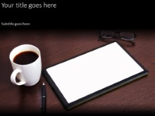 Tablet On Desk PPT PowerPoint Template Background