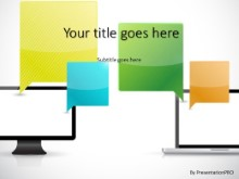 Technical Communication PPT PowerPoint Template Background