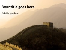 Download great wall of china PowerPoint Template and other software plugins for Microsoft PowerPoint
