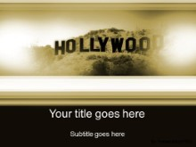 Download hollywood gold PowerPoint Template and other software plugins for Microsoft PowerPoint