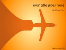 Airplane Silhouette PPT PowerPoint Template Background