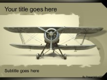 Download biplane PowerPoint Template and other software plugins for Microsoft PowerPoint