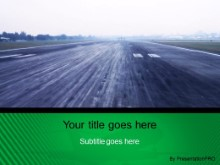 Download landing strip green PowerPoint Template and other software plugins for Microsoft PowerPoint