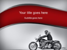 Download motorcycle ride gray PowerPoint Template and other software plugins for Microsoft PowerPoint