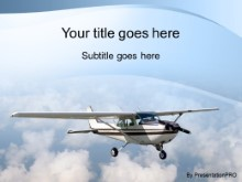 Download single engine plane PowerPoint Template and other software plugins for Microsoft PowerPoint