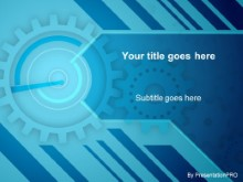 Download gears blue PowerPoint Template and other software plugins for Microsoft PowerPoint