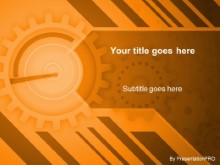 Download gears orange PowerPoint Template and other software plugins for Microsoft PowerPoint