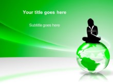 Download globe green PowerPoint Template and other software plugins for Microsoft PowerPoint