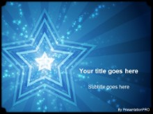 Download stars blue PowerPoint Template and other software plugins for Microsoft PowerPoint
