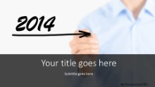 2014 Forward Widescreen PPT PowerPoint Template Background