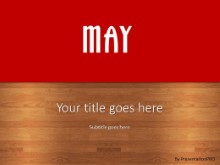 May Red PPT PowerPoint Template Background