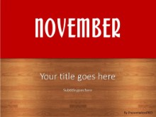 November Red PPT PowerPoint Template Background