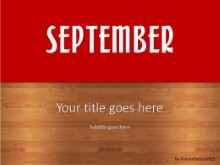 September Red PPT PowerPoint Template Background