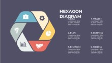 PowerPoint Infographic - Circle Hex 6 02