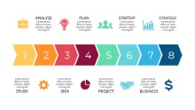 PowerPoint Infographic - Process 8 Chevrons