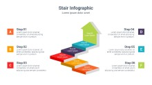 PowerPoint Infographic - 3D Stair Arrow 049