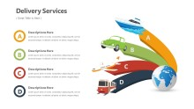 PowerPoint Infographic - Delivery Service Infographic Layout