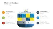 PowerPoint Infographic - Delivery Tanker Infographic Layout