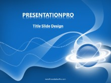 Whirly Orb PPT PowerPoint Template Background