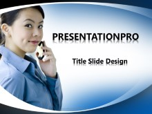 Download asian woman cell talk PowerPoint 2007 Template and other software plugins for Microsoft PowerPoint