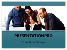 Business Team Teal PPT PowerPoint Template Background