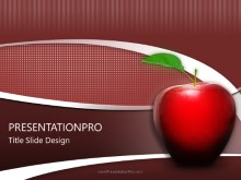 Teachers Apple PPT PowerPoint Template Background