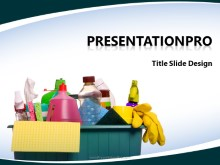 Download household cleaning PowerPoint 2010 Template and other software plugins for Microsoft PowerPoint