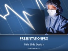 Watching The Pulse PPT PowerPoint Template Background