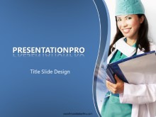 Woman Nurse PPT PowerPoint Template Background