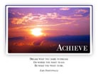 Achieve - Light PPT PowerPoint Motivational Quote Slide