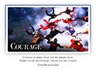 Courage - Light PPT PowerPoint Motivational Quote Slide