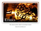 Ethics - Light PPT PowerPoint Motivational Quote Slide
