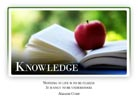 Knowledge - Light PPT PowerPoint Motivational Quote Slide
