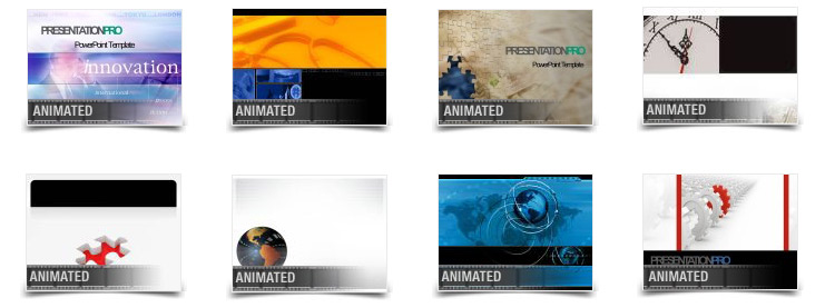 animated template examples from PowerDesigns 5-in-1 Package for PowerPoint