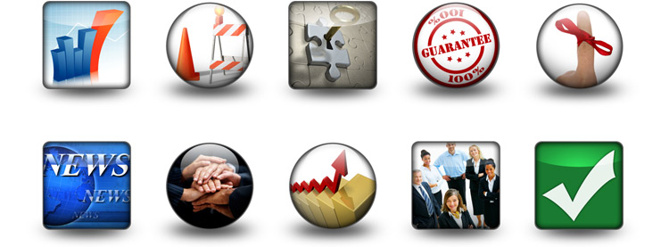 icons examples from PowerDesigns 5-in-1 Package for PowerPoint