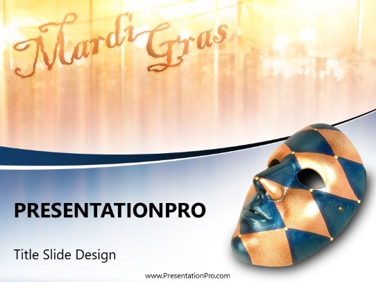 mardi gras mask powerpoint template background in us