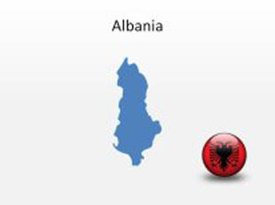 Albania PowerPoint Map Shape. 100% editable in PowerPoint!